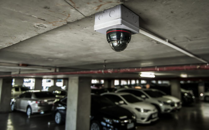 Security Camera In Carpark
