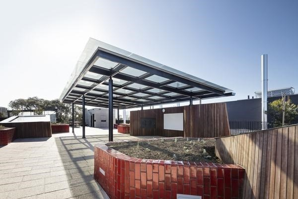 Scotch College solar glass walkway structure, Melbourne, VIC